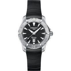PROMOCJA ZEGAREK CERTINA DS Action C032.251.17.051.00. Czarne zegarki damskie CERTINA, pozłacane. W wyprzedaży za 1707,20 zł.
