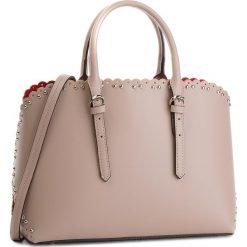 Torebka CREOLE - K10538  Pudrowy Róż. Czerwone torebki klasyczne damskie Creole, ze skóry. W wyprzedaży za 269,00 zł.