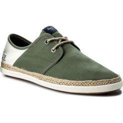 Espadryle PEPE JEANS - Maui Laces Fabrics PMS10226 Khaki Green 765. Zielone espadryle męskie Pepe Jeans, z jeansu. W wyprzedaży za 169,00 zł.
