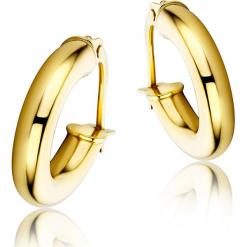 Złote kolczyki-kreole. Żółte kolczyki damskie REVONI, złote. W wyprzedaży za 517,95 zł.