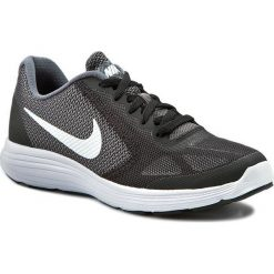 Buty NIKE - Revolution 3 (GS) 819413 001 Dark Grey/White/Black Pr Platnm. Czarne buty do biegania damskie Nike, z materiału, nike revolution. W wyprzedaży za 169,00 zł.
