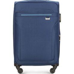 Walizka średnia V25-3S-262-90. Niebieskie walizki marki Wittchen, średnie. Za 169,00 zł.