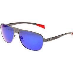 """Okulary przeciwsłoneczne męskie: Okulary męskie """"Hardwell"""" w kolorze srebrno-niebieskim"""