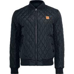 Urban Classics Diamond Quilt Nylon Jacket Kurtka czarny. Niebieskie kurtki męskie pikowane marki Urban Classics, l, z okrągłym kołnierzem. Za 244,90 zł.