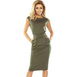 Sukienka z podwyższonym stanem sf-144-5. Brązowe sukienki balowe marki SaF, xl, ołówkowe. Za 139,90 zł.