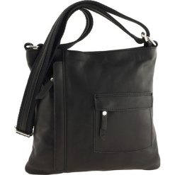 Torebki klasyczne damskie: Skórzana torebka w kolorze czarnym – 28 x 28 x 3 cm