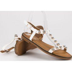 Białe sandały na sprzączkę SDS biały. Białe rzymianki damskie SDS. Za 69,00 zł.