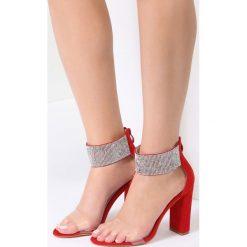Czerwone Sandały Sophisticated. Czerwone sandały damskie vices, na wysokim obcasie. Za 89,99 zł.