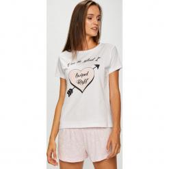 Answear - Piżama. Szare piżamy damskie marki ANSWEAR, l, z nadrukiem, z bawełny. W wyprzedaży za 47,90 zł.