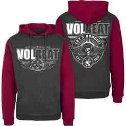 Volbeat Let's Boogie Bluza z kapturem czerwony/szary. Czerwone bluzy męskie rozpinane marki KALENJI, m, z elastanu, z długim rękawem, długie. Za 184,90 zł.