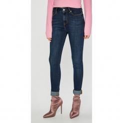 Tommy Hilfiger - Jeansy. Niebieskie jeansy damskie rurki TOMMY HILFIGER, z podwyższonym stanem. Za 449,90 zł.