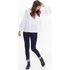 Bluzki asymetryczne: BLUZKA DŁUGI RĘKAW DAMSKA, OVERSIZE Z ZAKŁADKAMI