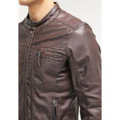 Oakwood CASEY  Kurtka skórzana dark brown. Czarne kurtki męskie skórzane marki Reserved, l. Za 959,00 zł.