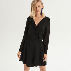 Sukienka z falbankami - Czarny. Czarne sukienki z falbanami marki Sinsay, l, z falbankami. Za 79,99 zł.