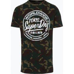 Superdry - T-shirt męski, zielony. Zielone t-shirty męskie z nadrukiem Superdry, m. Za 119,95 zł.