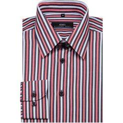 Koszula MARCO KMW00004. Białe koszule męskie na spinki Giacomo Conti, m, w paski, z bawełny, z klasycznym kołnierzykiem. Za 199,00 zł.