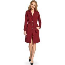 BELINDA Płaszcz typu trencz - bordowy. Czerwone płaszcze damskie pastelowe Stylove, klasyczne. Za 229,90 zł.