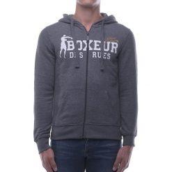 Bejsbolówki męskie: BOXEUR Bluza męska szary melanż r. S (BXE-4784F)