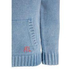Polo Ralph Lauren FLAG HOODIE Sweter light indigo. Niebieskie swetry chłopięce marki Adidas, z kontrastowym kołnierzykiem, z krótkim rękawem. Za 629,00 zł.
