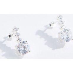 Kolczyki damskie: Srebrne kolczyki z cyrkoniami premium – Srebrny