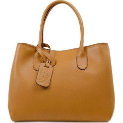 """Torebki klasyczne damskie: Skórzana torebka """"Monica"""" w kolorze brązowym – 32 x 20 x 27 cm"""