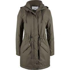 Płaszcz bonprix ciemnooliwkowy. Zielone płaszcze damskie bonprix. Za 179,99 zł.