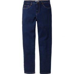 Dżinsy ze stretchem Classic Fit Tapered bonprix ciemnoniebieski. Czarne jeansy męskie relaxed fit marki bonprix. Za 89,99 zł.
