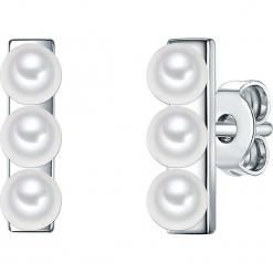 Srebrne kolczyki-wkrętki z perłami w kolorze białym. Białe kolczyki damskie Pearls Special, z perłą, srebrne. W wyprzedaży za 136,95 zł.