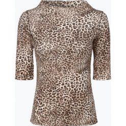 Marc Cain Collections - T-shirt damski, beżowy. Brązowe t-shirty damskie Marc Cain Collections, z motywem zwierzęcym, z dżerseju. Za 659,95 zł.