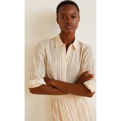 Mango - Koszula Sati. Szare koszule damskie marki Mango, l, z materiału, z długim rękawem. Za 139,90 zł.