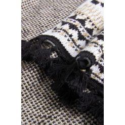 Bolerka i narzutki damskie: Ponczo - narzutka z folkowym wzorem