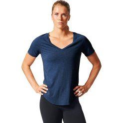 Adidas Koszulka Image Tee granatowy r. XS. Niebieskie topy sportowe damskie Adidas, xs. Za 84,90 zł.