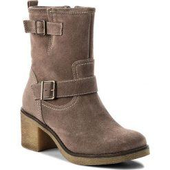 Botki LASOCKI - 7440-04 Beżowy. Brązowe buty zimowe damskie Lasocki, ze skóry, na obcasie. W wyprzedaży za 115,00 zł.