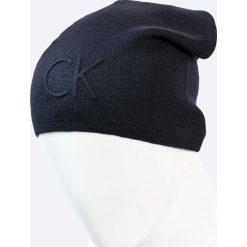Calvin Klein Jeans - Czapka. Szare czapki zimowe męskie marki Calvin Klein Jeans, na zimę, z dzianiny. W wyprzedaży za 119,90 zł.