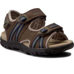 Sandały GEOX - J S.Strada A J4224A 0CE14 C0947 Brąz/Morski. Brązowe sandały męskie skórzane Geox. W wyprzedaży za 179,00 zł.