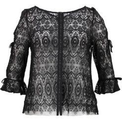 Bluzki asymetryczne: Elvi LACE BOW SLEEVE Bluzka black