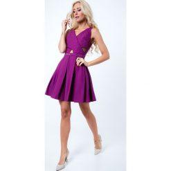 Sukienka z ozdobnymi kamykami fioletowa G50111. Fioletowe sukienki Fasardi, m. Za 159,00 zł.