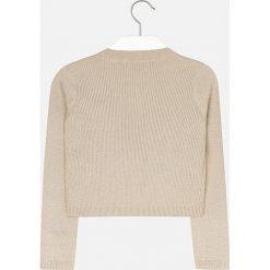 Mayoral - Kardigan dziecięcy 128-167 cm. Szare swetry dziewczęce marki Mayoral, z bawełny. W wyprzedaży za 69,90 zł.