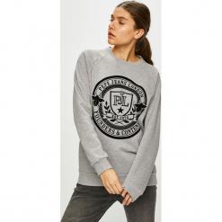 Pepe Jeans - Bluza. Szare bluzy damskie Pepe Jeans, l, z aplikacjami, z bawełny, bez kaptura. Za 279,90 zł.