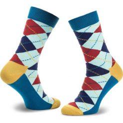 Skarpety Wysokie Unisex HAPPY SOCKS - ARY01-6006 Kolorowy. Szare skarpetki męskie Happy Socks, w kolorowe wzory, z bawełny. Za 34,90 zł.