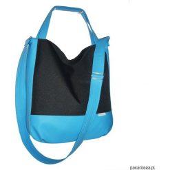 5636 ankate, duża czarna torba na ramię, 2w1. Czarne shopper bag damskie Pakamera, do ręki, duże. Za 125,00 zł.