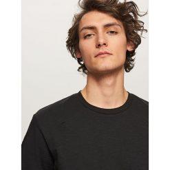 T-shirty męskie: Melanżowy t-shirt – Czarny