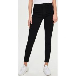 Spodnie damskie: Jeansy skinny high waist - Czarny