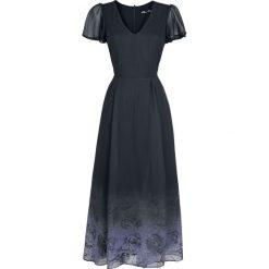 Spin Doctor Evadine Maxi Dress Sukienka Maxi czarny/jasnofioletowy. Szare długie sukienki marki Sinsay, l, z dekoltem na plecach. Za 199,90 zł.