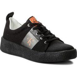 Półbuty CALVIN KLEIN JEANS - Gala R8783 Black. Czarne creepersy damskie Calvin Klein Jeans, z jeansu, na płaskiej podeszwie. W wyprzedaży za 339,00 zł.