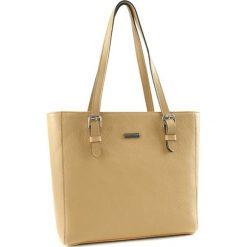 Torebki klasyczne damskie: Skórzana torebka w kolorze piaskowym – (S)40 x (W)29 x (G)12,5 cm