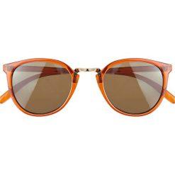 Okulary przeciwsłoneczne bonprix jasnobrązowo-złoty kolor. Brązowe okulary przeciwsłoneczne damskie aviatory bonprix. Za 21,99 zł.