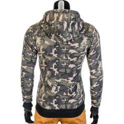 Bluzy męskie: BLUZA MĘSKA ROZPINANA Z KAPTUREM B715 - KHAKI/CAMO