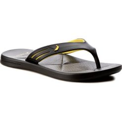 Chodaki męskie: Japonki RIDER - Easy Thong Ad 82026 Black/Yellow 20566