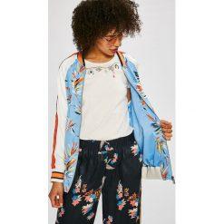 Pepe Jeans - Kurtka bomber Lesly. Szare kurtki damskie Pepe Jeans, l, z jeansu. W wyprzedaży za 399,90 zł.